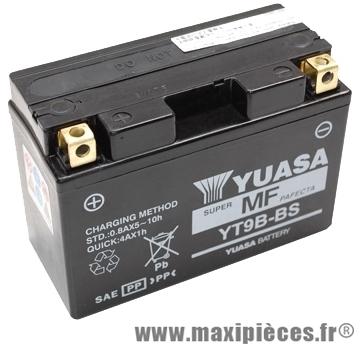 batterie 12v / 8 ah (yt9b-bs) sans entretien pour yamaha 400 majesty... (dimension: lg150xl70xh105)