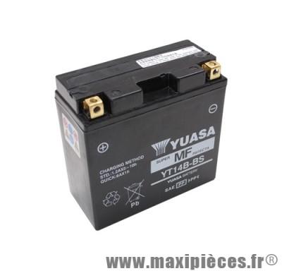 batterie 12v /12ah yuasa (yt14b-bs) sans entretien (dimension: lg150xl70xh145)