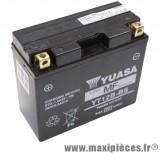 Batterie 12v /10ah yuasa (yt12b-bs) sans entretien pour piaggio 125 beverly... (dimension: lg150xl69xh130)