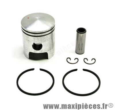 piston + segment + axe et clips pour cylindre airsal pour peugeot buxy zenith treeker tkr vivacity speedfight elyseo elystar looxor squab x-fight... (50cc 2t air)