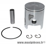 Piston + segment + axe et clips pour cylindre airsal pour mbk nitro mach g yamaha aerox jog aprilia rally sr area ... (50cc 2t liquide)