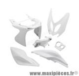 Kit carrosserie carénage blanc pour mbk nitro yamaha aerox (6 pièces)