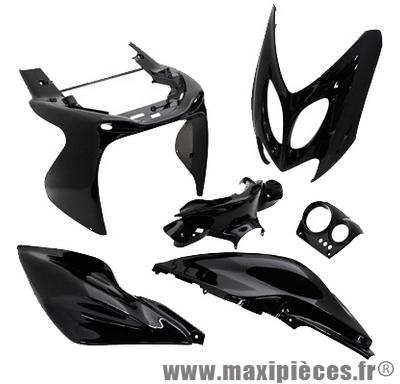 Kit carrosserie carénage noir pour mbk nitro yamaha aerox (6 pièces)