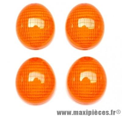 Cabochon de clignotant orange avant et arrière pour peugeot ludix