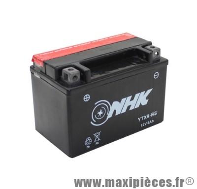 batterie 12v / 8 ah (ytx9-bs) sans entretien pour yamaha 125 x-max/400 majesty - mbk 125 skycruiser - kymco 125 dink/grand dink - suzuki 125 burgman... (dimension: lg150xl87xh105)