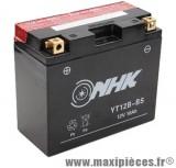 Batterie 12v /10ah (yt12b-bs) sans entretien pour piaggio 125 beverly... (dimension: lg150xl69xh130)
