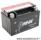 Batterie 12v / 6ah (ytx7a-bs) sans entretien pour yamaha 125 cygnus/cygnus x - mbk 125 flame/flame r - suzuki 125 burgman... (dimension: lg150xl87xh94)