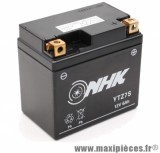 Batterie gel AGM 12v / 6ah (ytz7s) sans entretien prêt à l'emploi (dimension: Lg113xL70xH107mm)