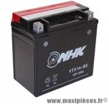 Prix Spécial ! Batterie 12v /12ah (ytx14-bs) sans entretien pour piaggio 125 mp3/x9 suzuki 650 burgman... (dimension: lg150xl87xh145)