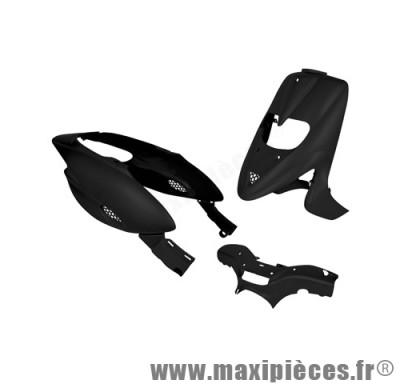 Kit carrosserie carénage noir pour gilera stalker (5 pieces) (avec trappe)
