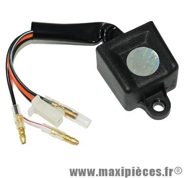 bloc boitier cdi adaptable origine pour scooter mbk booster nitro ovetto yamaha bw's aerox ovetto aprilia sr cpi hussar popcorn malaguti f10 f12 f15..(5 fils)