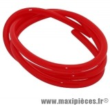 Durite d'essence 5mm rouge diametre extensible (interieur 5mm par 8mm exterieur/vendu par 1 metres)