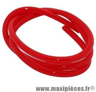 durite d'essence 5mm rouge diametre extensible (interieur 5mm par 8mm exterieur/vendu par 1 metres)