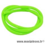 Durite d'essence 5mm vert fluo diametre extensible (interieur 5mm par 8mm exterieur/vendu par 1 metres)