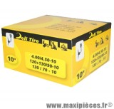 Prix spécial ! Chambre à air 10 pouces Deli Tire 4.00/4.50x10 - 130/70x10 - 120+130/90x10 - valve coudée TR-4