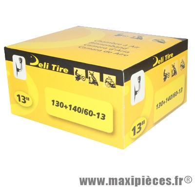 Prix spécial ! Chambre à air 13 pouces Deli Tire 130+140/60-13 - valve standard coudée JS-87C