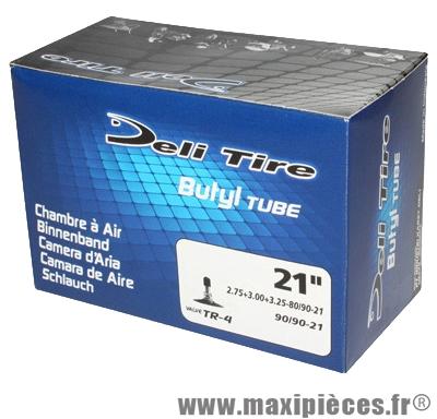 Chambre à air 21 pouces Deli Tire 2.75+3.00+3.25x21 - 80+90/90x21 - valve standard droite TR4