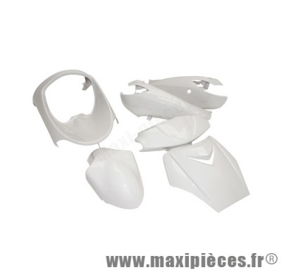 Kit carrosserie carénage blanc pour peugeot vivacity jusqu'à 2008 (6 pièces)