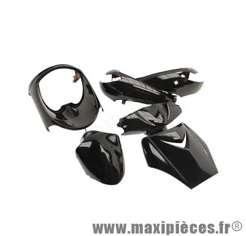 carrosserie / carenage de scooter pour vivacity jusqu'a 2008 noir nacre (kit 6 pieces)
