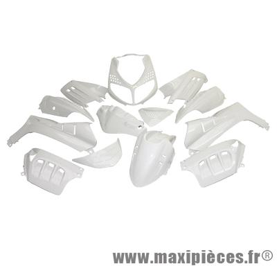 Kit carrosserie carénage blanc pour speedfight 2 (13 pièces)