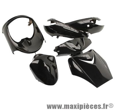 Kit carrosserie carénage noir pour peugeot vivacity jusqu'à 2008 (6 pièces)