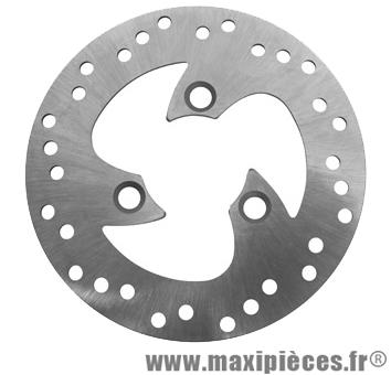 disque de frein avant de scooter adaptable : peugeot trekker/vivacity/buxy/sv50 piaggio typhoon/nrg/stalker aprilia sr50 malaguti f12/f15 (ext 190mm, int 58mm, 3 trous)