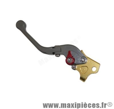 levier de frein de scooter race cnc pliable pour booster apres 2004 droit gris/or