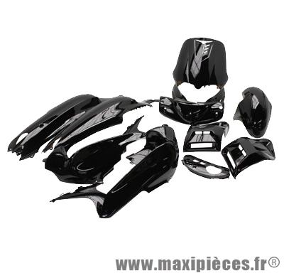 Kit carrosserie carénage noir pour gilera runner (12 pièces) de 1997 à 2005