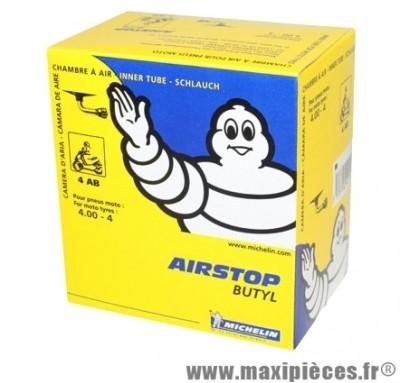 Chambre à air 4 pouces 4.00x4 Michelin 4ab standard coude 90 pour pocket quad