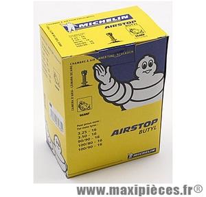 Prix spécial ! Chambre à air 16 pouces Michelin 3.25/3.50x16 (90+100/90x16 et 100/80x16) - valve standard droite