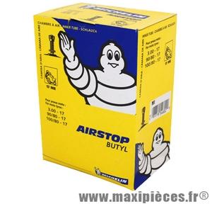 Chambre à air 17 pouces Michelin 3.00x17 (90+100/80x17) - valve droite