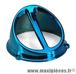 Prix discount ! Écope de refroidissement universel bleu anodisé diamètre 132mm pour tous scooter