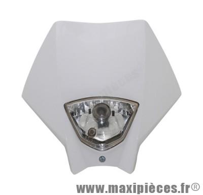 Tête de fourche plaque phare blanc pour moto 50 à boite