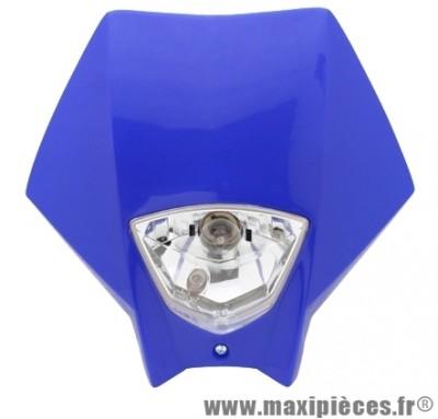 Tête de fourche plaque phare bleu pour moto 50 à boite