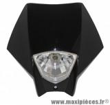 Tête de fourche plaque phare noir pour moto 50 à boite