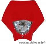 Tête de fourche plaque phare rouge pour moto 50 à boite
