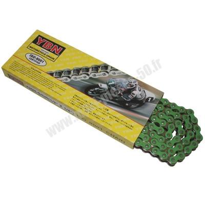 chaine (420) renforcé de couleur vert 134 maillons pour 50 à boite