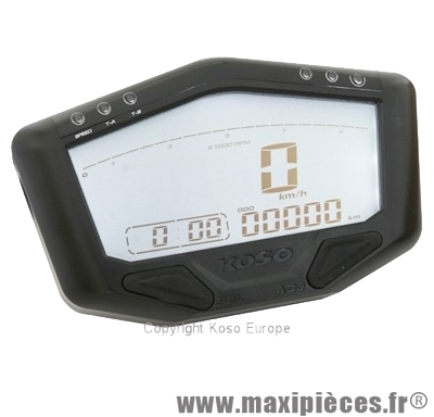 Compteur digital racing multi-fonctions universel koso db-02r 12v