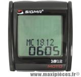 Compteur digital Sigma MC 18 universel pour moto scooter mobylette quad