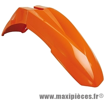 Garde boue avant Supermotard universel orange pour moto 50 à boite