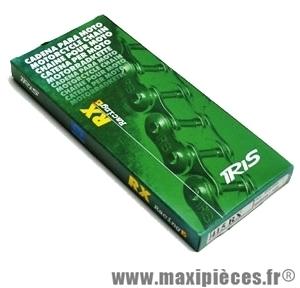 Chaine cyclomoteur renforcée or marque iris 415 rx racing 120 maillons pour: peugeot 103, mbk 51, ect...