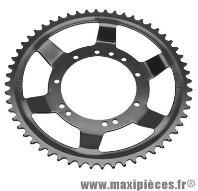 Déstockage ! Couronne noir Ø94mm (intérieur) 54dts 10 trous pour MBK 51 roue acier bâtons