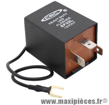 Prix spécial ! Centrale de clignotant universelle ampoule ou leds 1 fils+3fiches de 0.1 a 25 ampères