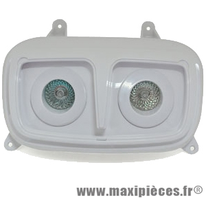 Phare halogène double optique 2x20w blanc pour mbk booster yamaha bws (2004)