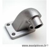 Pipe d'admission coudé en alu pour cyclomoteur mbk 51 (diamètre 15mm)