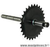 Axe de pédalier pour cyclomoteur Mbk 40/41/50/51 (28 dts)