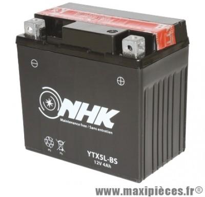 Batterie 12v / 4ah (ytx5l-bs) sans entretien (dimension: lg114xl71xh105)