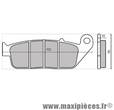 plaquettes de freins pour x citing 250/300/500 ...
