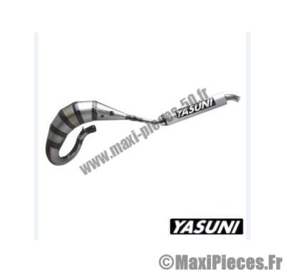 pot d'echappement yasuni cross hm (passage haut) pour derbi senda silencieux kevlar 2 parties.