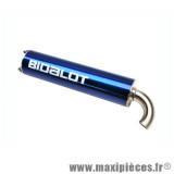 Silencieux/Cartouche BIDALOT S1R bleu pour scooter